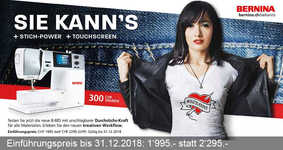 SIE KANN'S + STICH-POWER + TOUCHSCREEN - B485